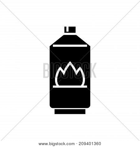 gas icon, illustration, vector sign on isolated background