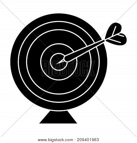 goal target with arrow icon, illustration, vector sign on isolated background