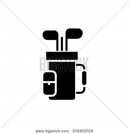 golf bag icon, illustration, vector sign on isolated background