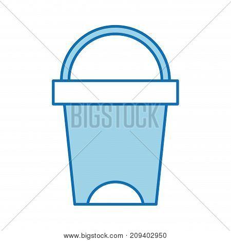 trash can bathroom tool plastic cleaning vector illustration
