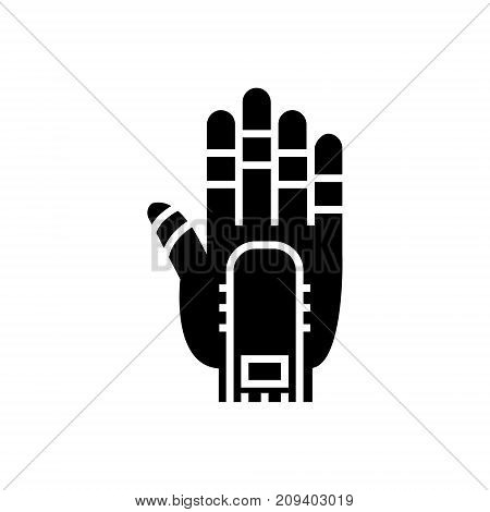 hand manipulator icon, illustration, vector sign on isolated background