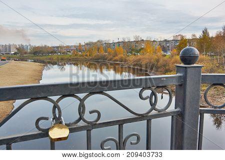 Autumn Landscape In The City Park