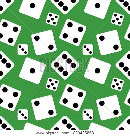 Vector Seamless Pattern Background of lucky Dices. Flat design Vector Illustration EPS