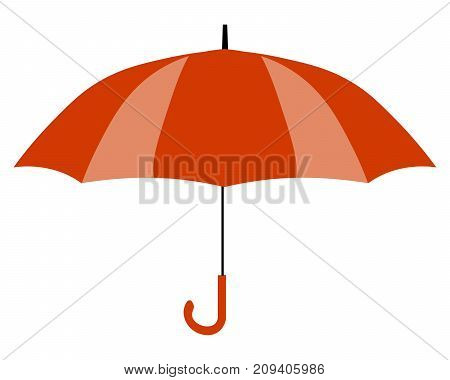 Red umbrella icon. Yellow umbrella icon isolated on background. Flat design Vector Illustration eps
