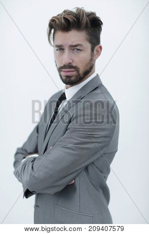 Portrait of a handsome man, isolated over a white background