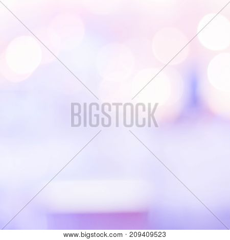 Blurred background purple festive light abstract bokeh background banner