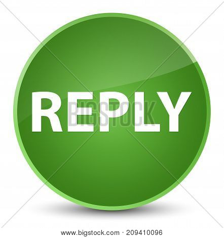 Reply Elegant Soft Green Round Button
