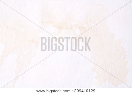 Brown abstract watercolor painting textured on white paper background
