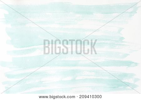 Green abstract watercolor painting textured on white paper background