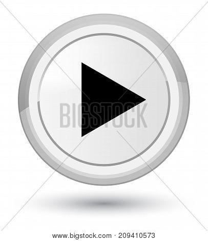 Play Icon Prime White Round Button