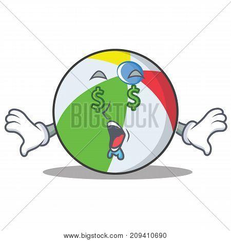Money eye ball character cartoon style vector illustration