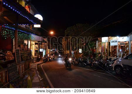 The Activity Around Ubud At Night, Bali, Indonesia