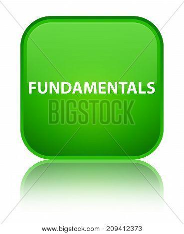 Fundamentals Special Green Square Button