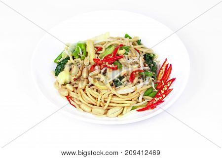 Auspicious food festival of Chinese peopleSour and sweet fried Chinese noodle with vegetableOrganic food to give a better life of the Chinese people.