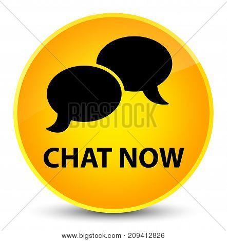 Chat Now Elegant Yellow Round Button