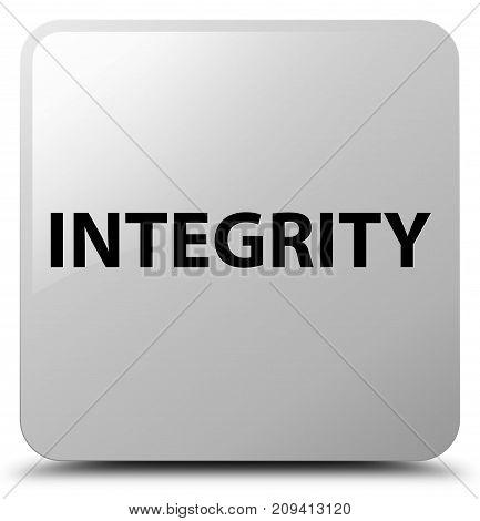 Integrity White Square Button