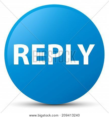 Reply Cyan Blue Round Button