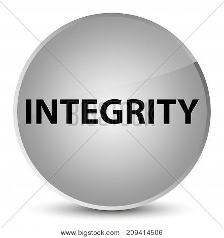 Integrity Elegant White Round Button