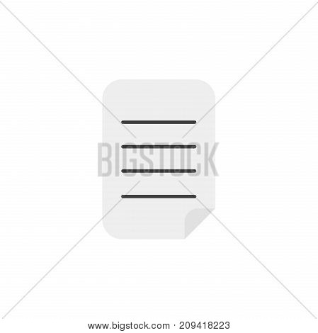 Flat Design Style Vector Of Written Paper