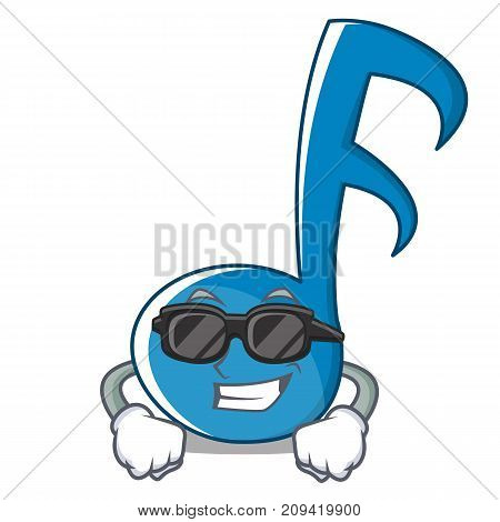 Super Cool Music Note Character Cartoon Vector Illustration