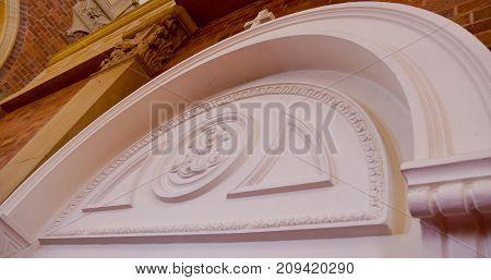 Exterior wide shot of a funeral chapel