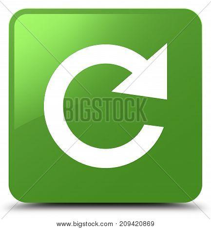 Reply Rotate Icon Soft Green Square Button