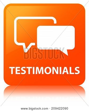Testimonials Orange Square Button