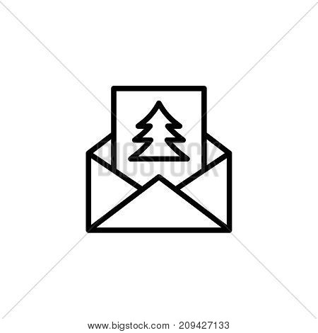 Christmas letter flat icon. Single high quality outline symbol of christmas for web design or mobile app. Thin line signs of holiday for design logo, visit card, etc. Outline logo of celebration