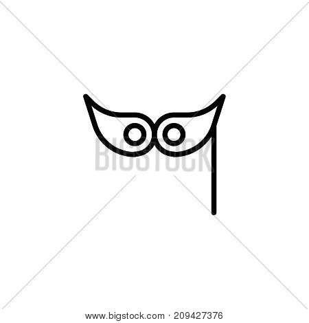 Christmas mask flat icon. Single high quality outline symbol of christmas for web design or mobile app. Thin line signs of holiday for design logo, visit card, etc. Outline logo of celebration