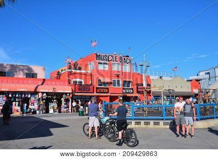 Muscle Beach Gym On Venice Beach, Ca.