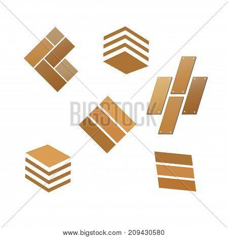 modern and simple tile wooden flooring  logo, wooden tile logo vector