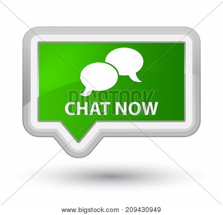 Chat Now Prime Green Banner Button