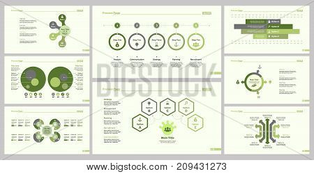 Teamwork design set can be used for workflow layout, web design, annual report. Research concept with step and options diagrams, circle percentage diagram, organizational chart