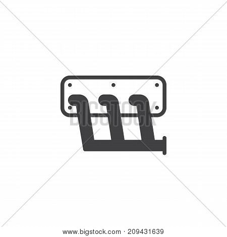 Car exhaust manifold icon vector, filled flat sign, solid pictogram isolated on white. Symbol, logo illustration.
