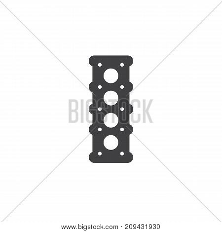 Engine cylinder head icon vector, filled flat sign, solid pictogram isolated on white. Symbol, logo illustration.