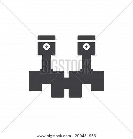 Crankshaft icon vector, filled flat sign, solid pictogram isolated on white. Symbol, logo illustration.