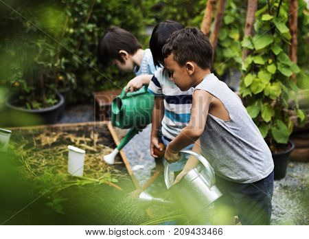 Kid in a garden experience and idea