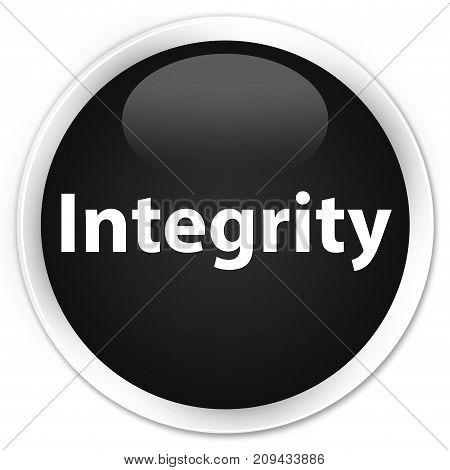 Integrity Premium Black Round Button