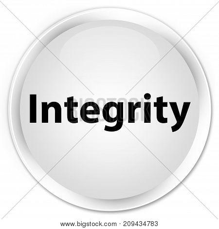 Integrity Premium White Round Button