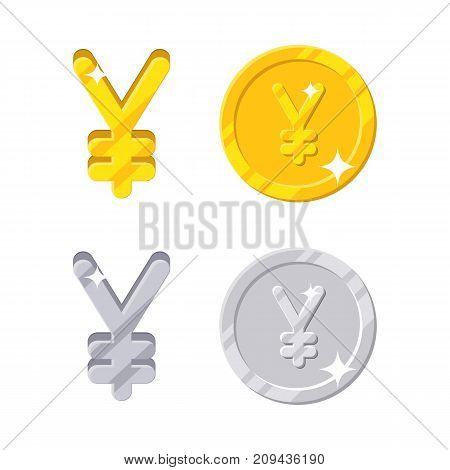 Yen Yuan Sign Gold Vector Photo Free Trial Bigstock