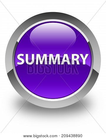 Summary Glossy Purple Round Button