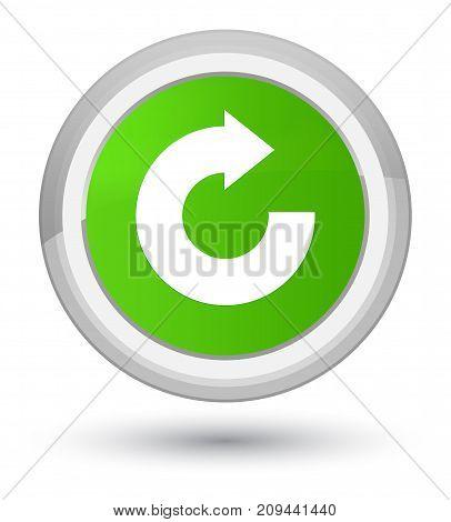 Reply Arrow Icon Prime Soft Green Round Button