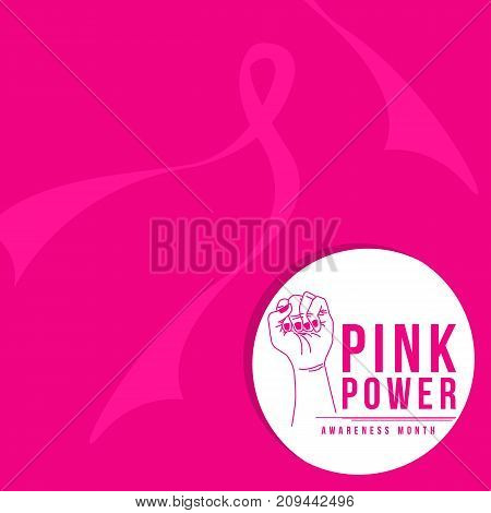 Breast cancer day with pink design vector illustration