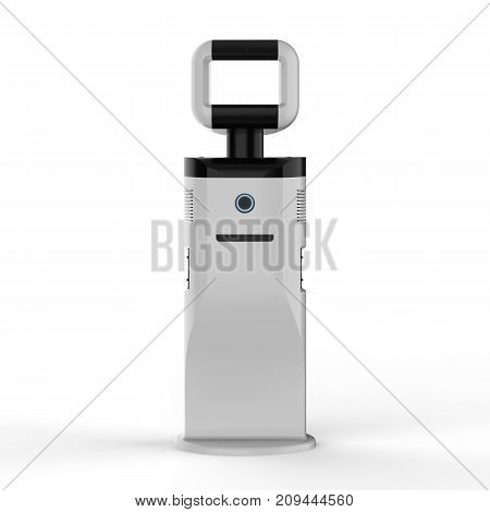 Assistant Robot With Empty Screen