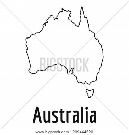 Australia map thin line. Simple illustration of Australia map vector isolated on white background