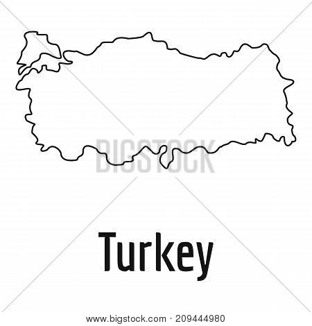 Turkey map thin line. Simple illustration of Turkey map vector isolated on white background