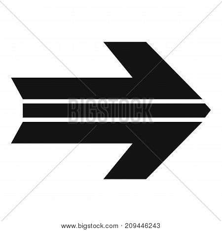 Arrow icon in black. Simple illustration of arrow icon vector isolated on white background
