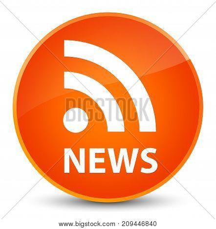 News (rss Icon) Elegant Orange Round Button
