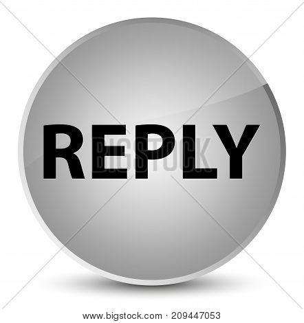 Reply Elegant White Round Button