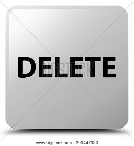 Delete White Square Button